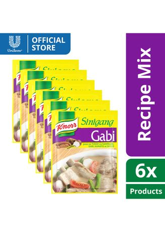 No Color color Bouillon, Stock & Flavored Seasoning . Knorr Sinigang Na May Gabi 44g x6 -