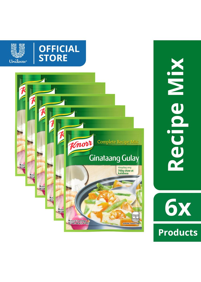 No Color color Bouillon, Stock & Flavored Seasoning . Knorr Mealmakers Ginataang Gulay 40g x6 -