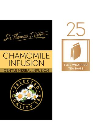 No Color color Health Drinks & Supplements . Sir Thomas J. Lipton Chamomile Infusion 6x25x1.0g -