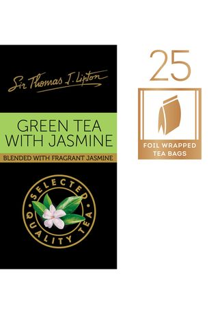 No Color color Health Drinks & Supplements . Sir Thomas J. Lipton Green Tea with Jasmine 25x2g -