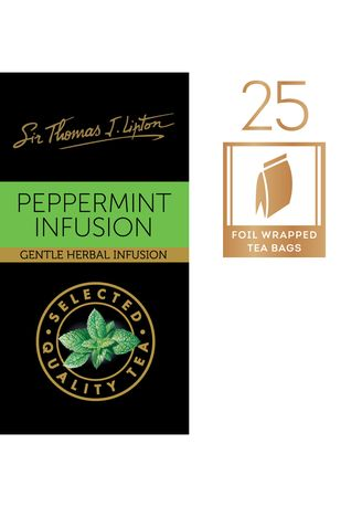 No Color color Health Drinks & Supplements . Sir Thomas J. Lipton Peppermint Infusion 25x1.5g -