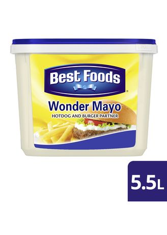 No Color color Mayonnaise  . Best Foods Wonder Mayo 5.5L -