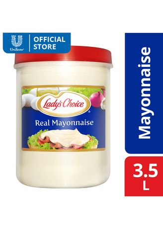 No Color color Mayonnaise  . Lady's Choice Real Mayonnaise Regular 3.5L -