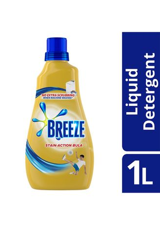 No Color color Laundry . Breeze Liquid Detergent Stain Action Bula 1L Bottle -