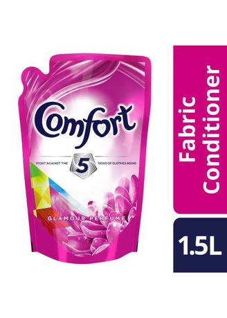 No Color color Laundry . Comfort Pink Fabric Conditioner Glamour Care 1.5L Pouch -