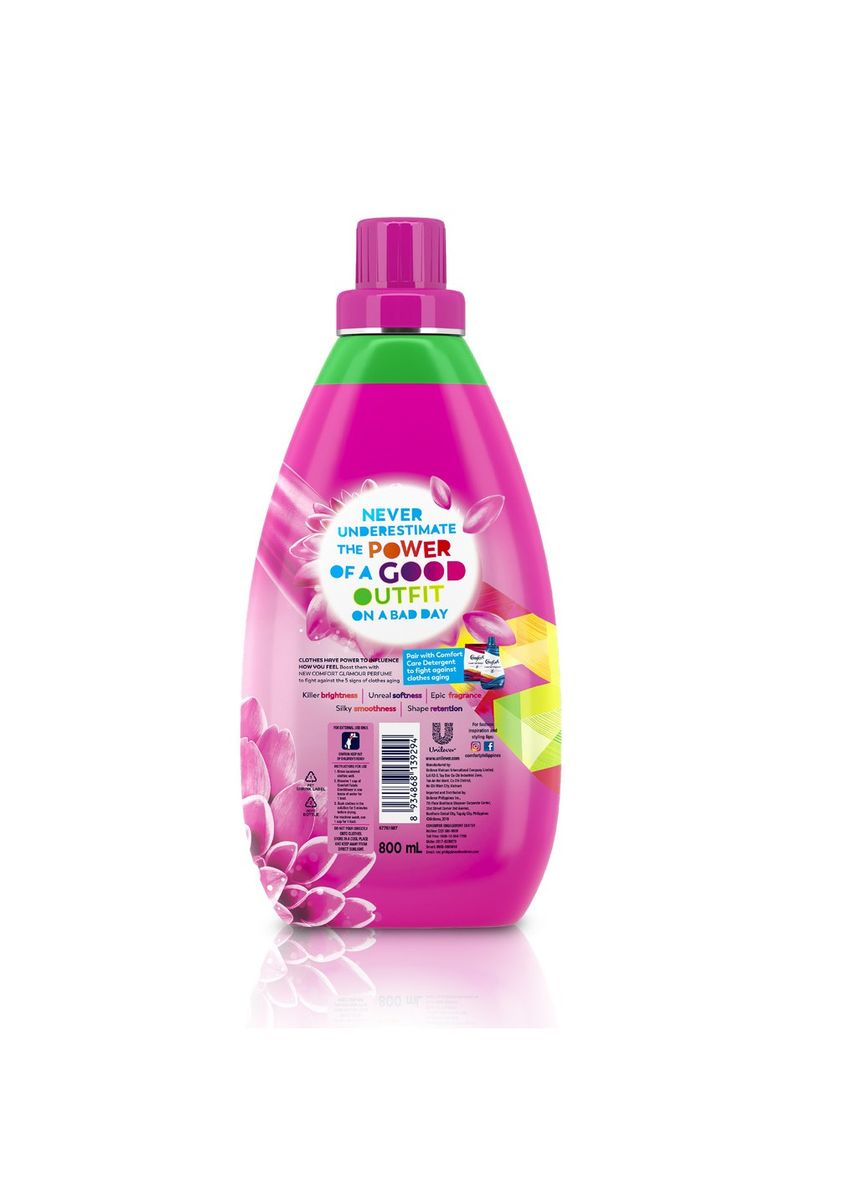 No Color color Laundry . Comfort Pink Fabric Conditioner Glamour Care 800ml Bottle -