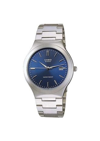 Silver color Analog . Jam Tangan Casio MTP-1170A-2ARDF Enticer Men Blue Dial Stainless Steel Strap -