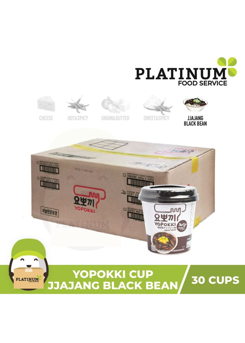 No Color color Snacks . Yopokki Jjajang Cup 120g x 30 -