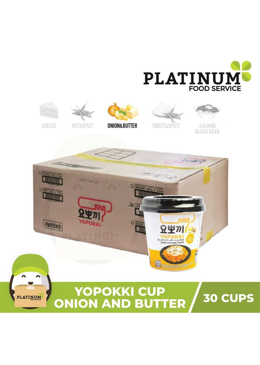 No Color color Snacks . Yopokki Onion & Butter Cup 120g x 30 -
