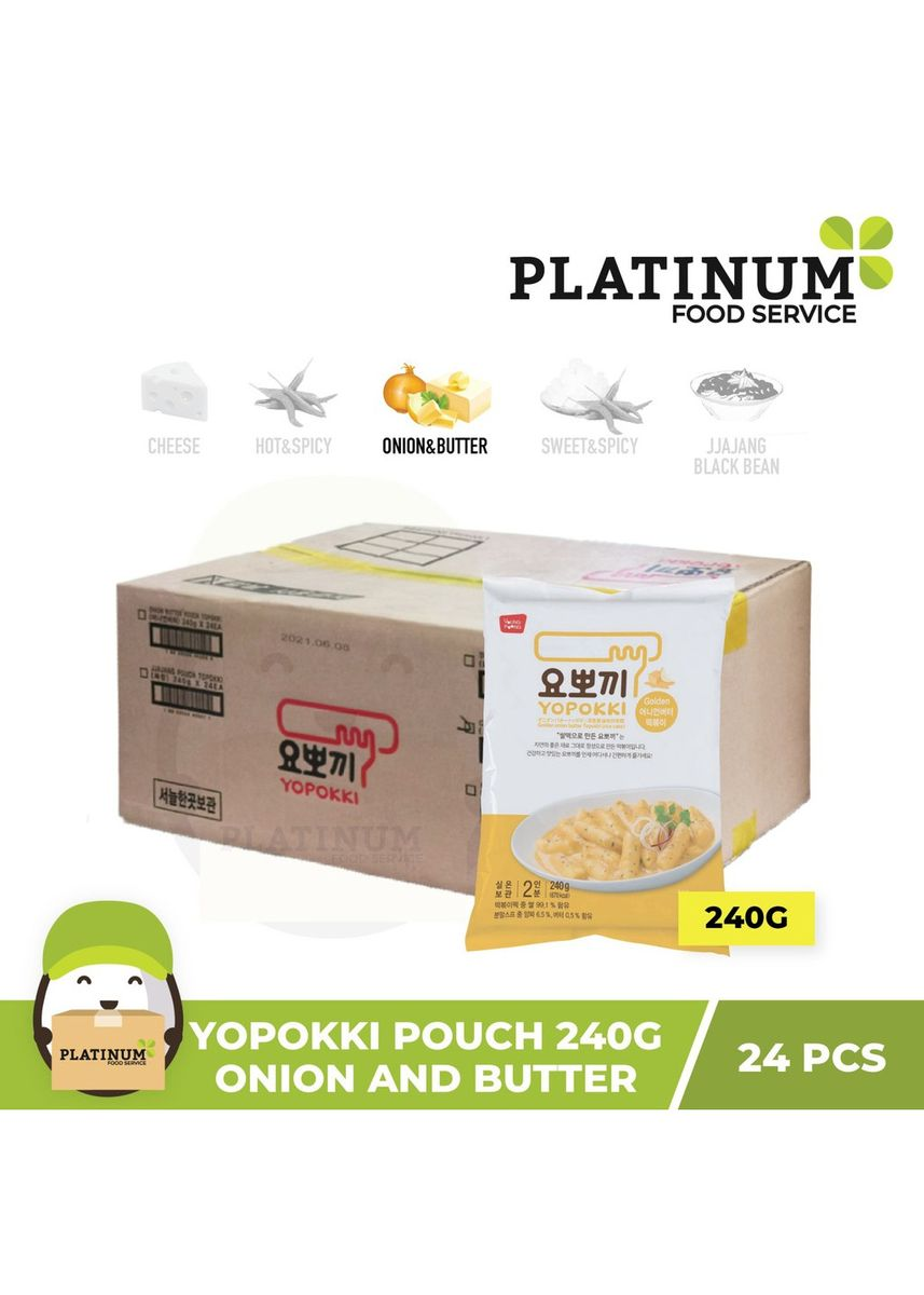 No Color color Snacks . Yopokki Onion & Butter Pouch 240g x 24 -