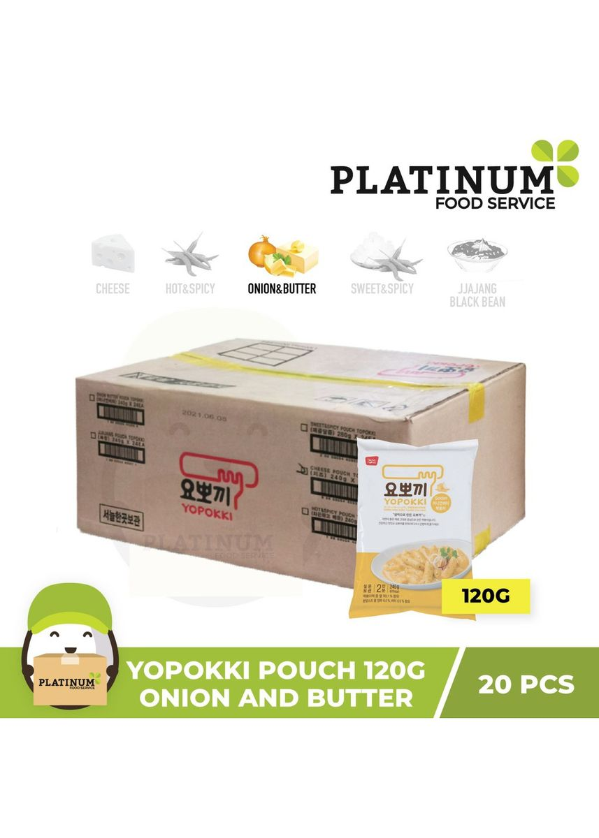 No Color color Snacks . Yopokki Onion & Butter Pouch 120g x 20 -