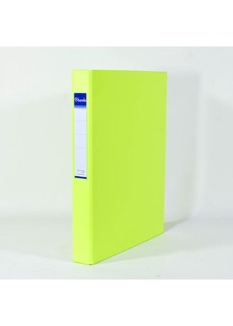 No Color color Binders & Binder Accessories . Bambi Ring Binder 2 Ring FC 2021 - 96 Fluoro Yellow -