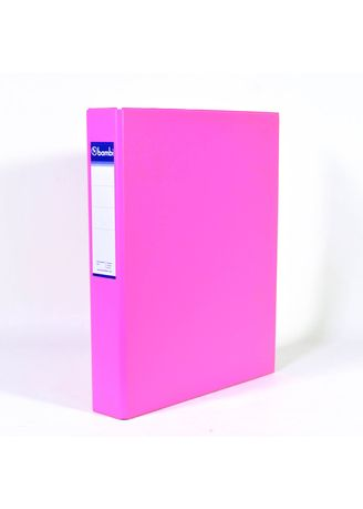 No Color color Binders & Binder Accessories . Bambi Ring Binder 2 Ring FC 2022 - 91 Fluoro Pink -