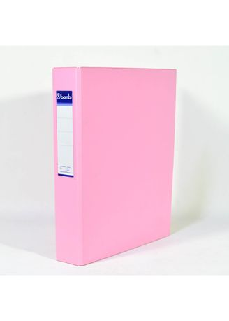 No Color color Binders & Binder Accessories . Bambi Ring Binder 2 Ring FC 2023 - 21 Pastel Pink -