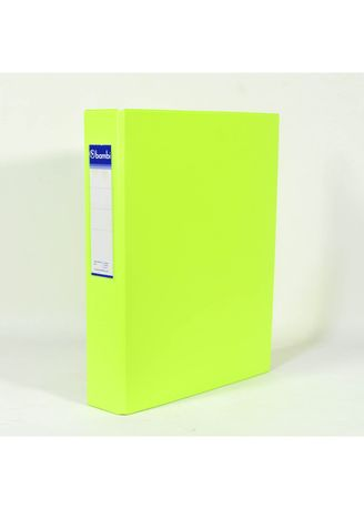 No Color color Binders & Binder Accessories . Bambi Ring Binder 2 Ring FC 2023 - 96 Fluoro Yellow -