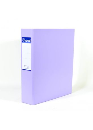No Color color Binders & Binder Accessories . Bambi Ring Binder 2 Ring FC 2024 - 20 Pastel Purple -