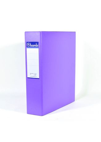 No Color color Binders & Binder Accessories . Bambi Ring Binder 2 Ring FC 2024 - 90 Fluoro Purple -