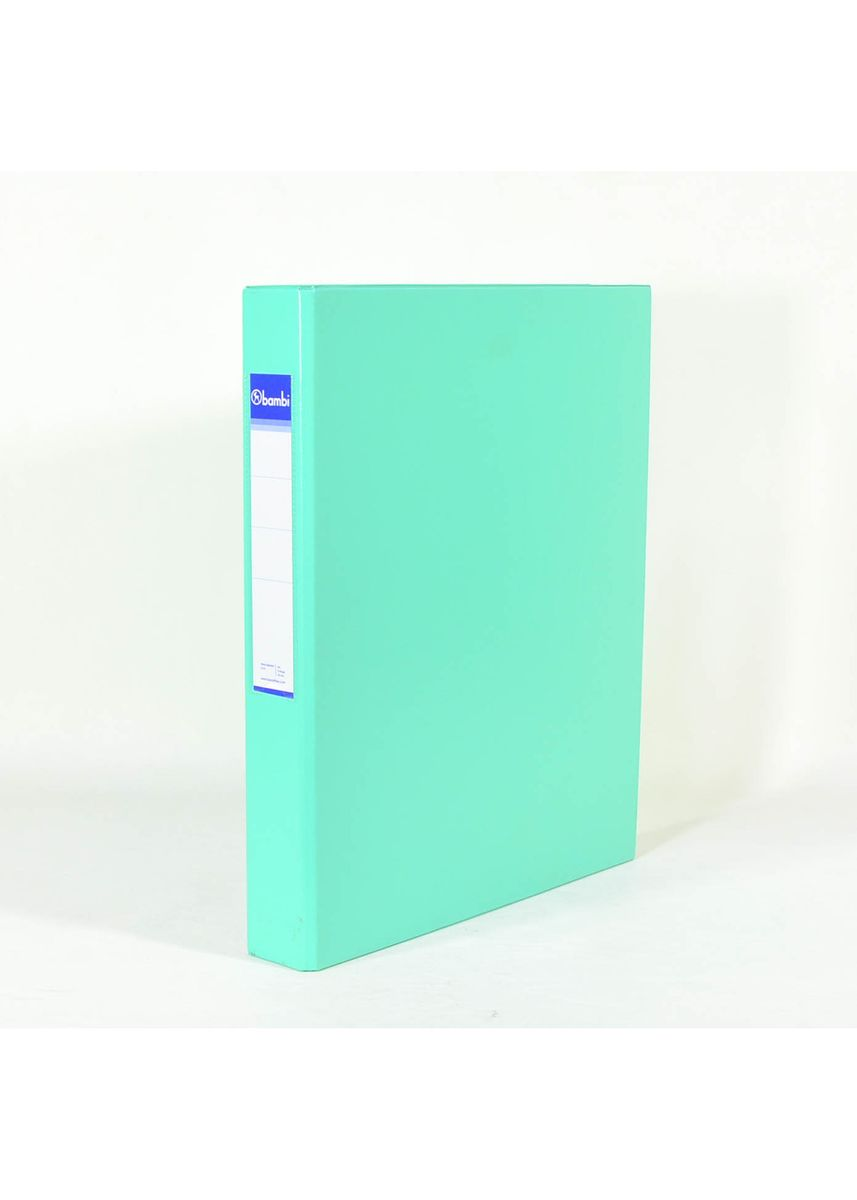 No Color color Binders & Binder Accessories . Bambi Ring Binder 3 Ring A4 2131 - 19 Pastel Green -