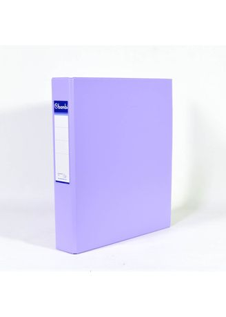 No Color color Binders & Binder Accessories . Bambi Ring Binder 3 Ring A4 2132 - 20 Pastel Purple -