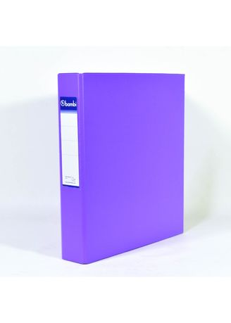 No Color color Binders & Binder Accessories . Bambi Ring Binder 3 Ring A4 2132 - 90 Fluoro Purple -