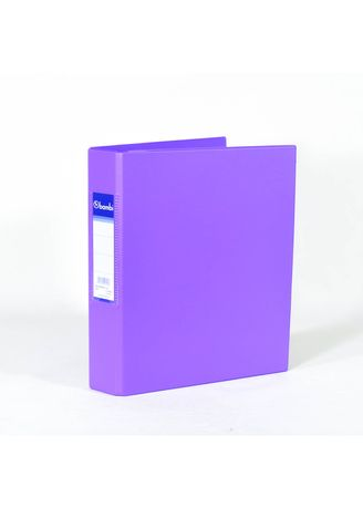 No Color color Binders & Binder Accessories . Bambi Ring Binder 3 Ring A5 2221 - 90 Fluoro Purple -