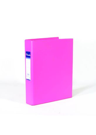 No Color color Binders & Binder Accessories . Bambi Ring Binder 3 Ring A5 2221 - 91 Fluoro Pink -