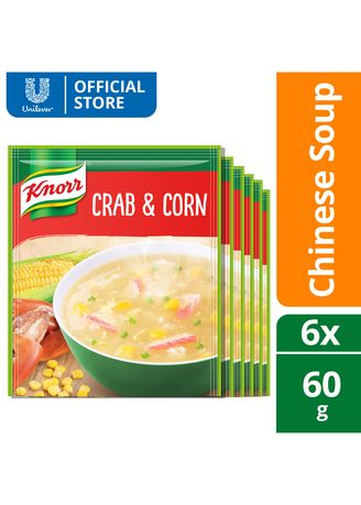 No Color color Snacks . Knorr Crab And Corn Soup Mix 60G 6x -