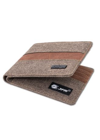 Brown color Wallets . JFR Fashion Dompet Pria Bahan Kulit Canvas JP42 Carnaby Series -