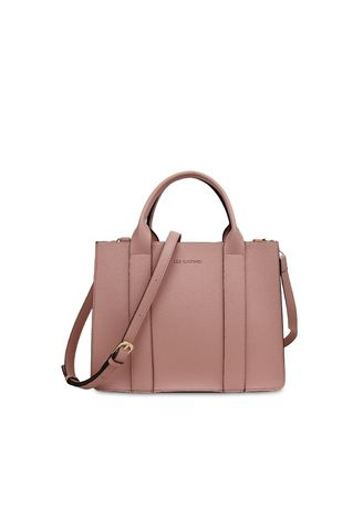 Pink color Hand Bags . Tas Travel Les Catino Suika Satchel NL Peach Beige -