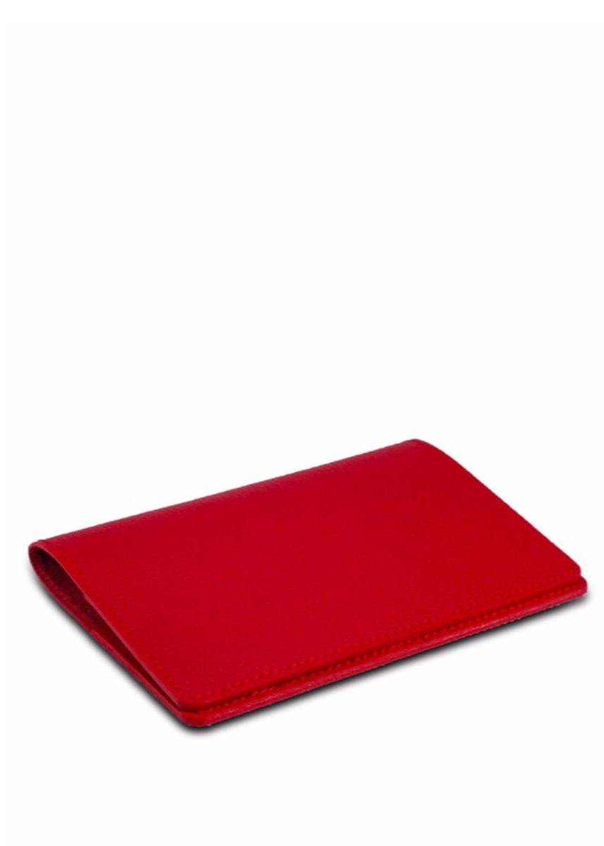 Red color Travel Accessories . Slim Leather Passport Cover Wallet -