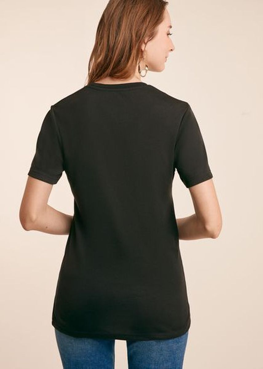 Black color Tees & Shirts . Expressie Women Tee -