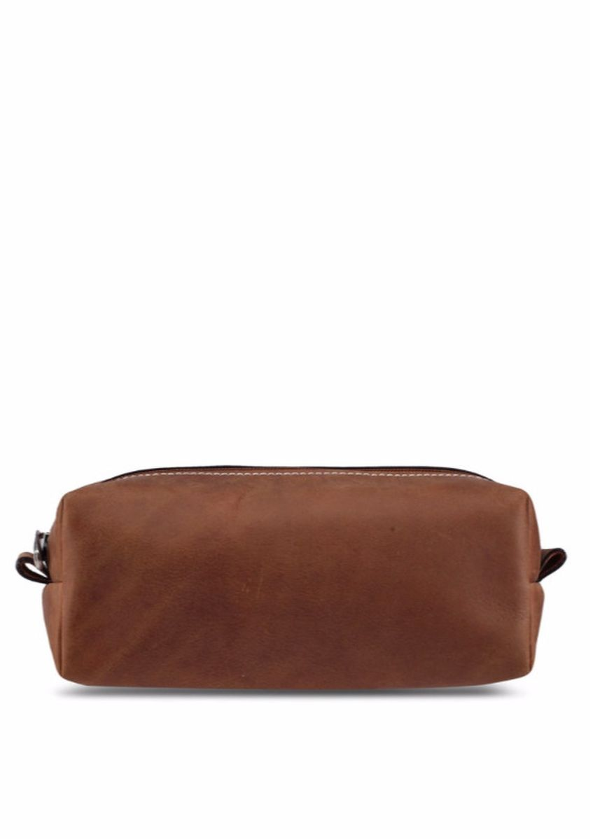 Tan color Travel Accessories . Leather Dopp Kit -