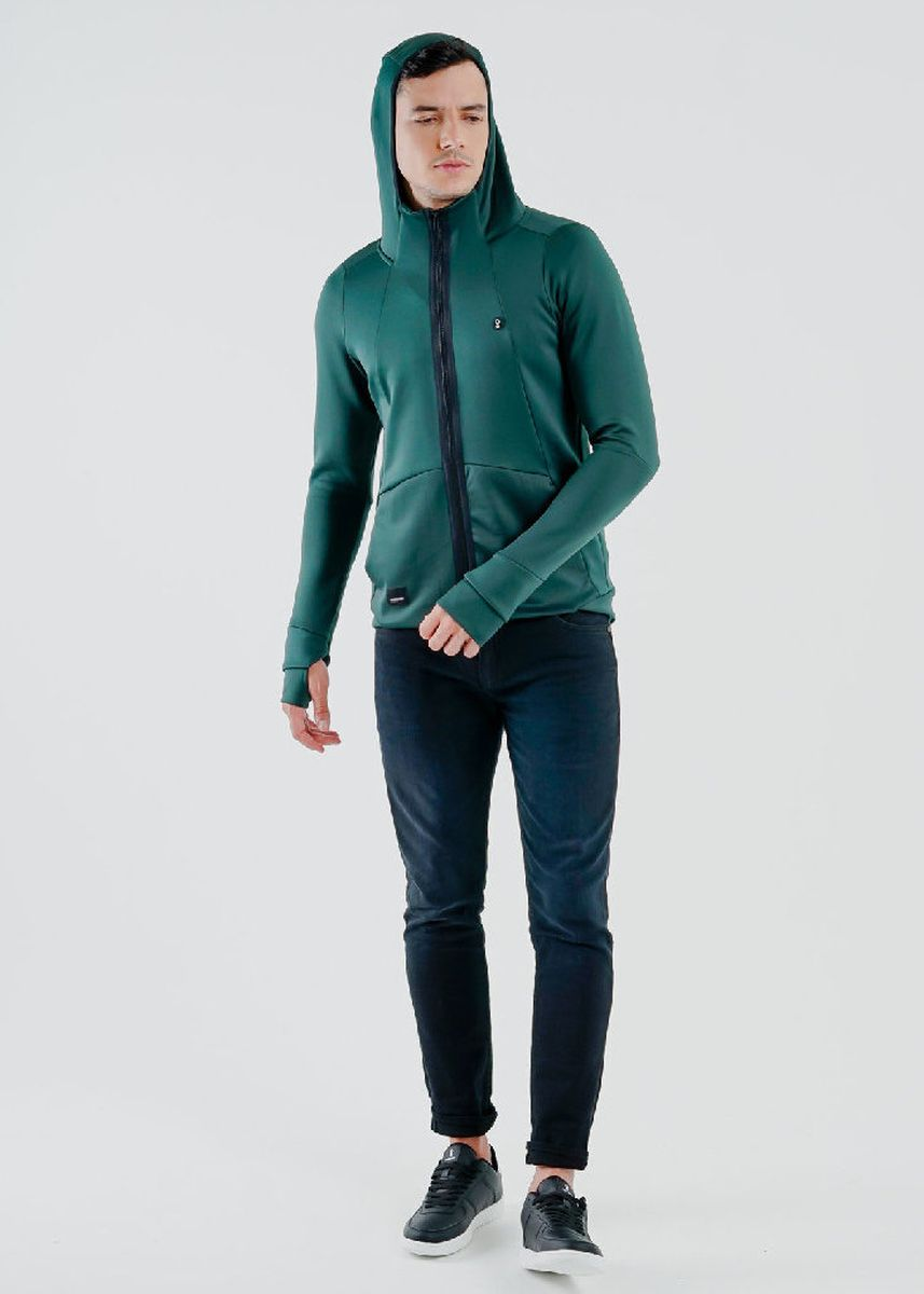 Green color Outerwear . Greenlight Men Jacket 180720 -