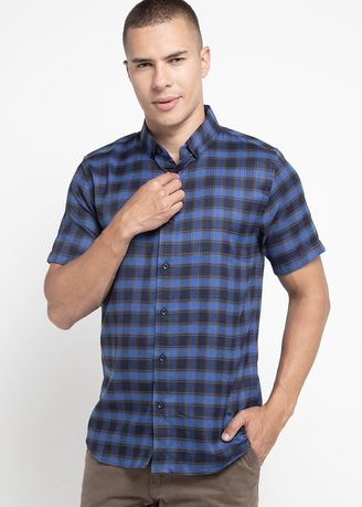 Blue color Casual Shirts . OTO ONO KEMEJA BLEISE -