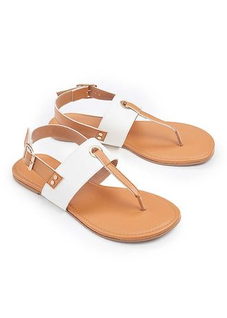 White color Sandals and Slippers . Nerissa Women's Sandals -