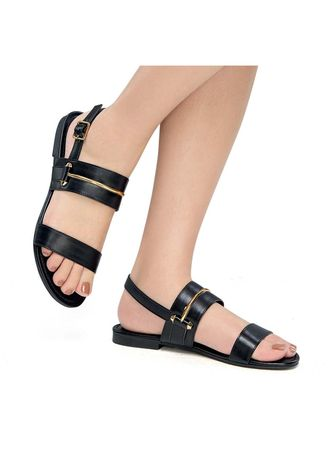 Black color Sandals and Slippers . Norma Women's Sandals -