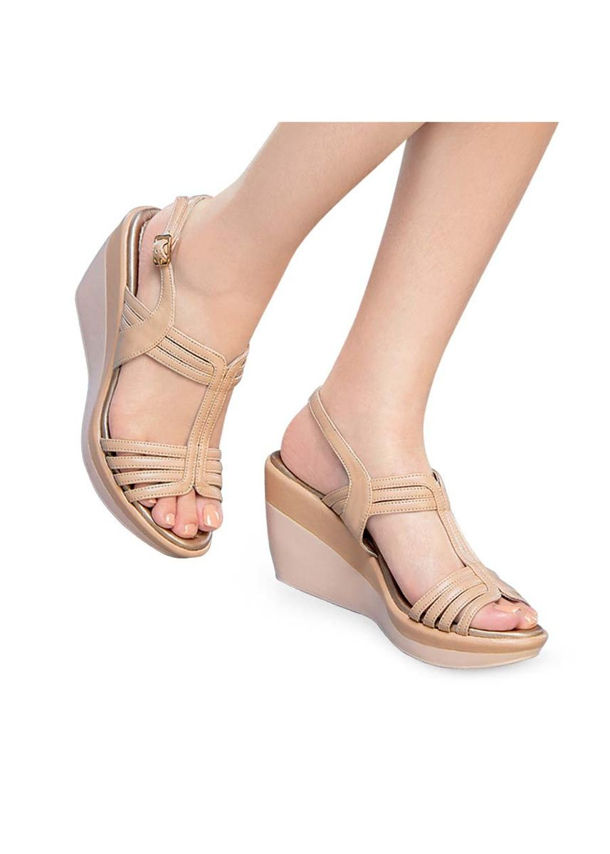 Beige color Sandals and Slippers . Nympha Women's Sandals -
