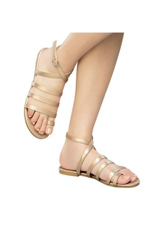 Gold color Sandals and Slippers . Mortisha Women's Sandals -