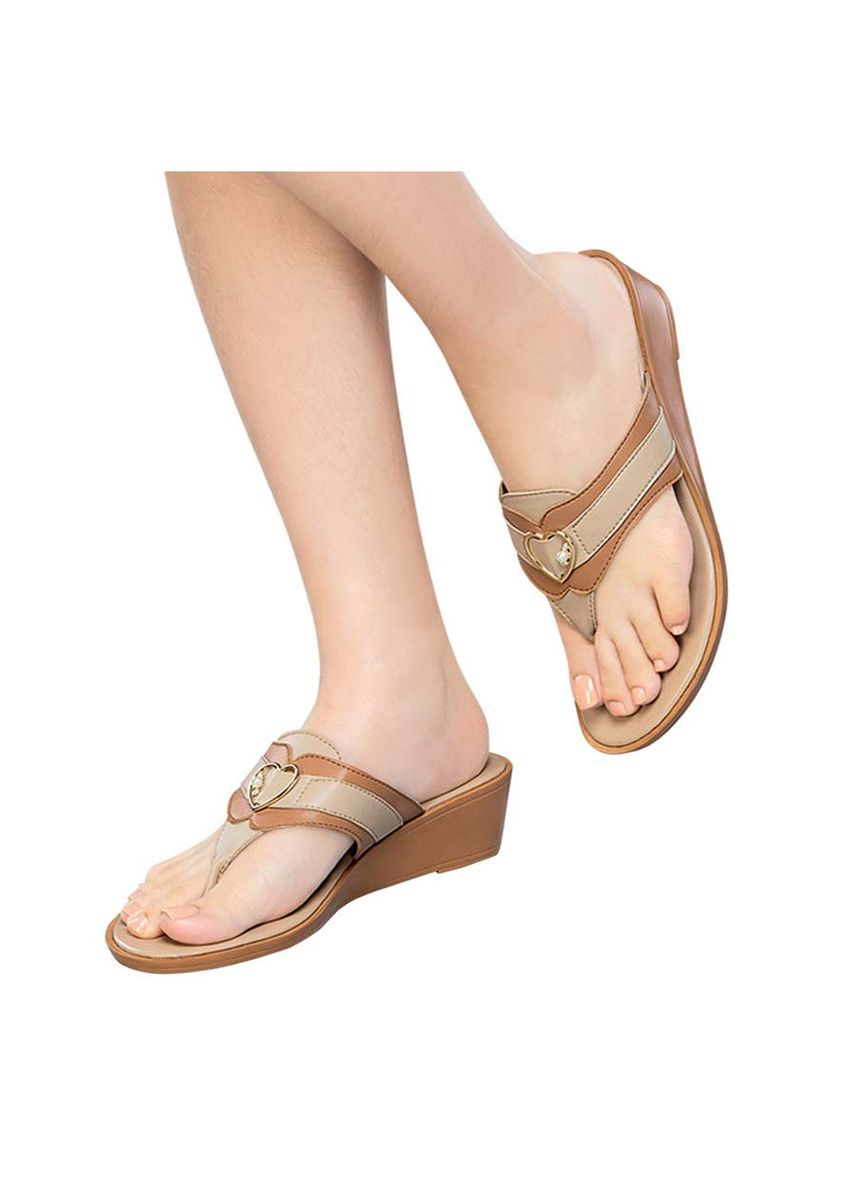 Beige color Sandals and Slippers . Medley Women's Sandals -