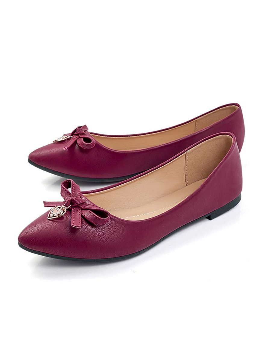 Maroon color Flats . Vana Women's Shoes -