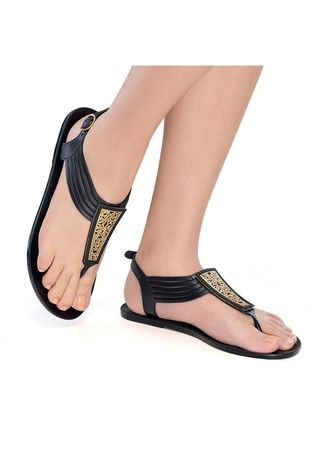 Black color Sandals and Slippers . Santina Women's Sandals -