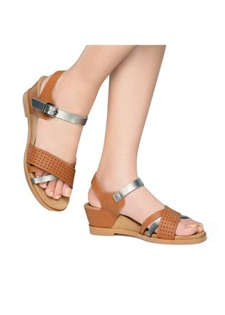 Brown color Sandals and Slippers . Nelly Women's Sandals -