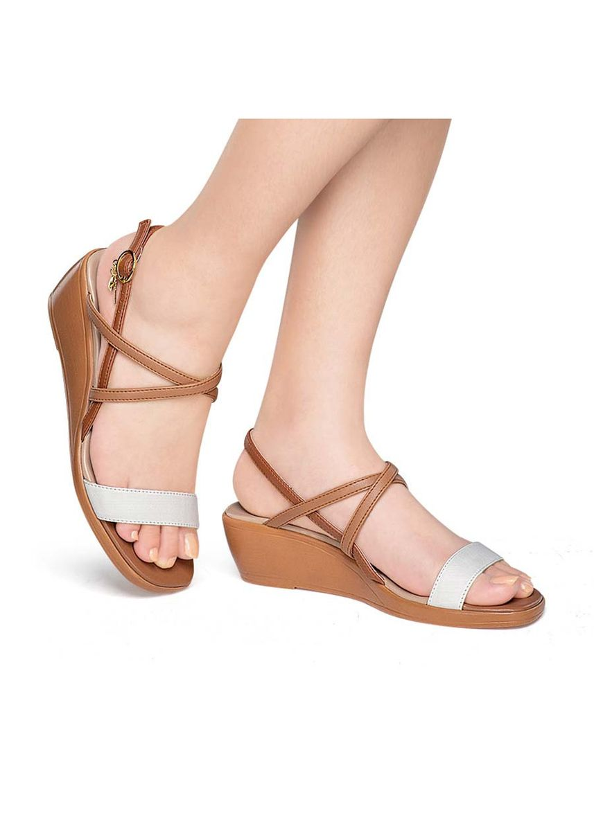 Brown color Sandals and Slippers . Precy Women's Sandals -