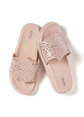 Beige color Sandals and Slippers . Preppy Women's Sandals -