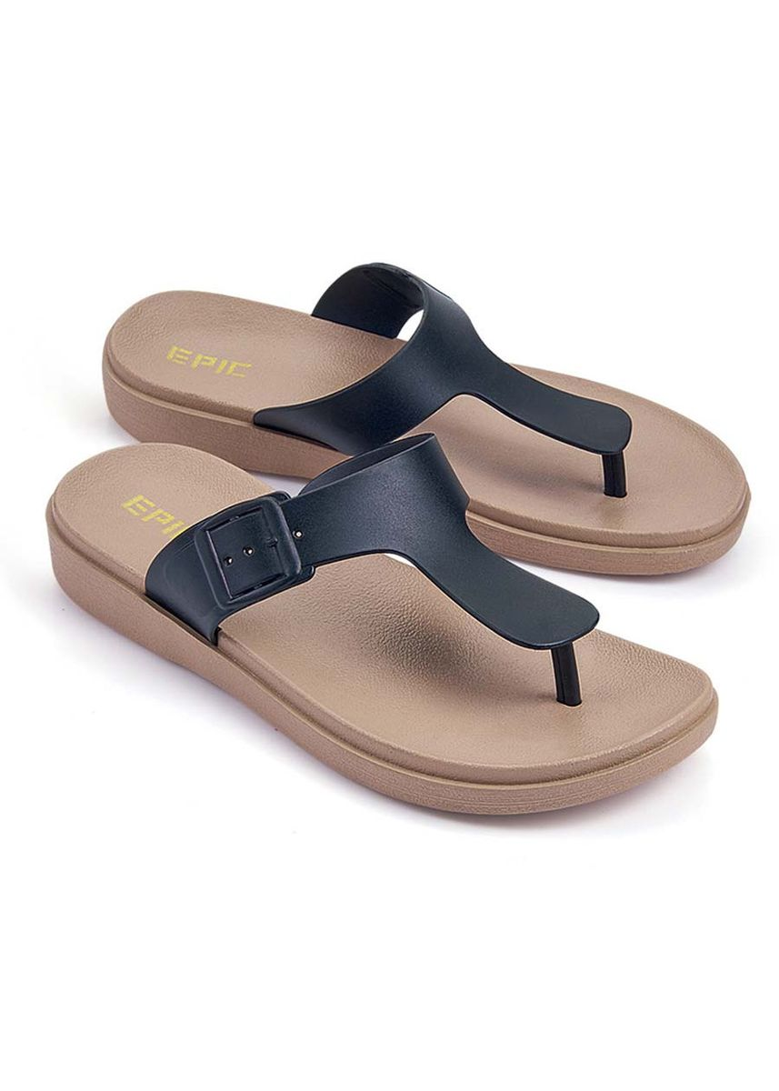 Black color Sandals and Slippers . Vitalize Women's Sandals -