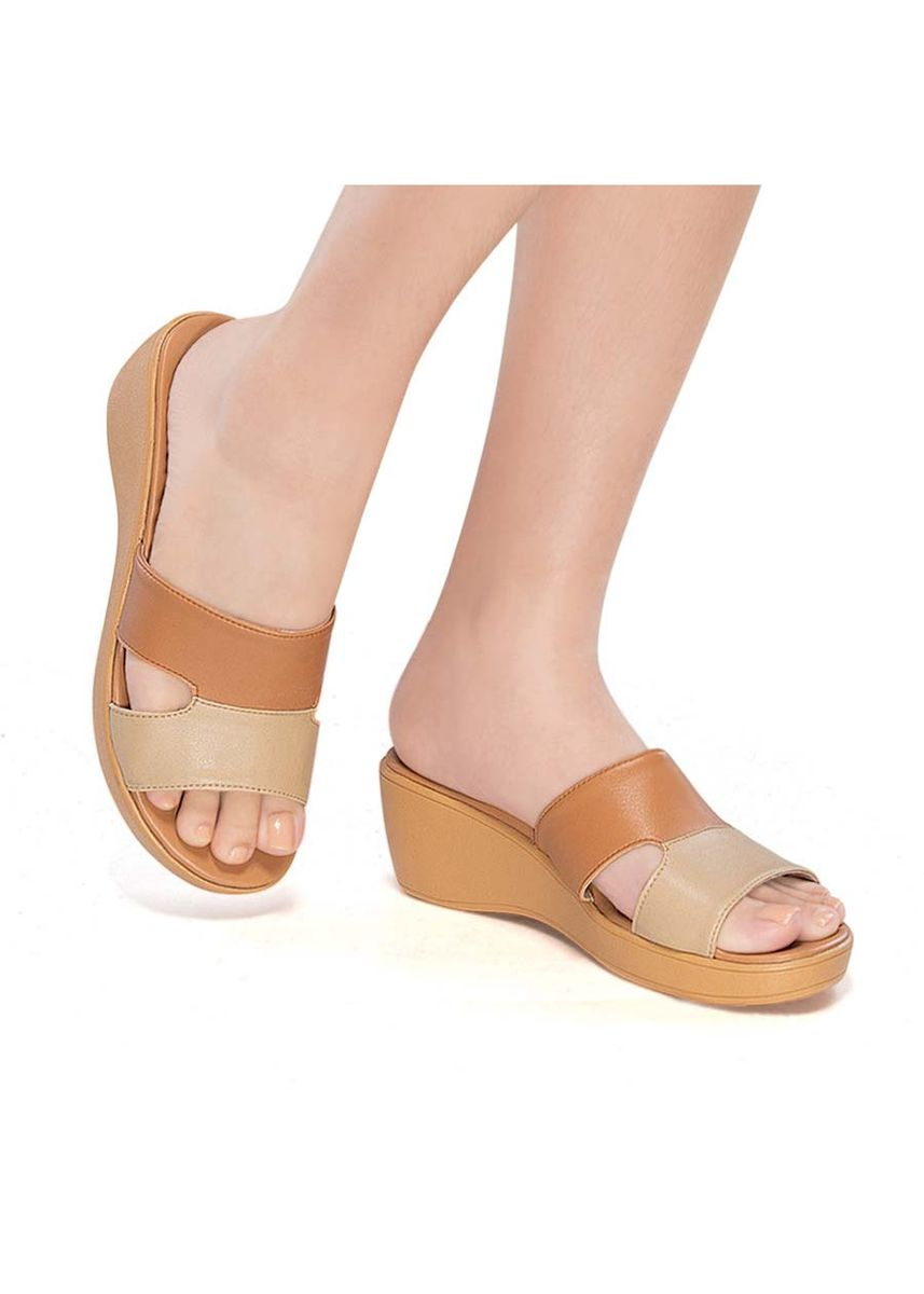 Beige color Sandals and Slippers . Megara Women's Sandals -