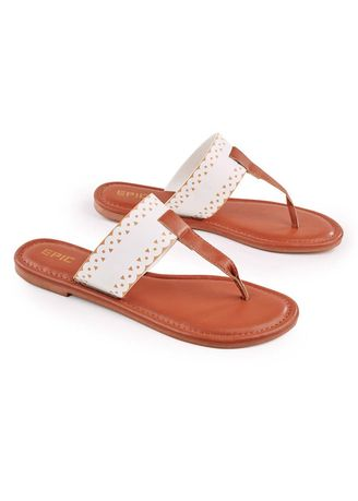 White color Sandals and Slippers . Rosky Women's Sandals -