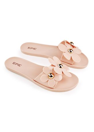 Beige color Sandals and Slippers . Octavia Women's Slippers -