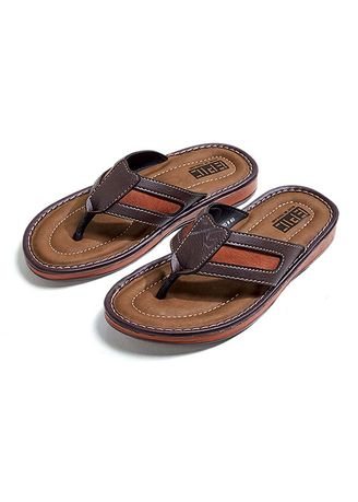 Brown color Sandals and Slippers . Nuevo Men's Slippers -