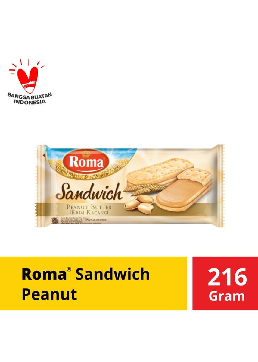 No Color color Snacks . Roma Sandwich Peanut 216 gr -